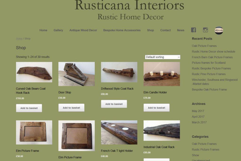 New Rusticana Interiors online shop